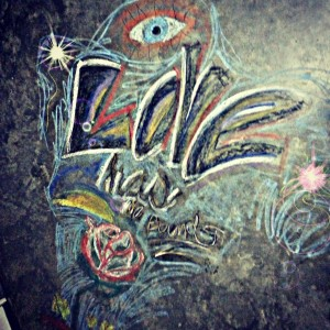 Chalk Art- Love- Art