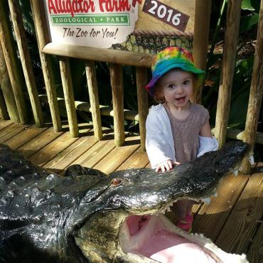 Winslow at Alligator Farm in St. Augustine FL