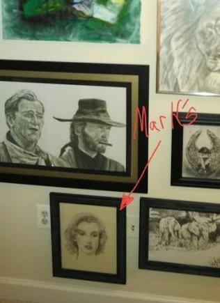 Mark Lemon- Maralin Monroe Drawing