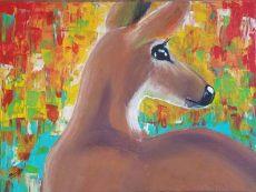 Samantha Lemon Deer Painting